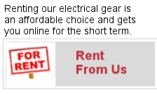 RENT ELECTRICAL POWER GENERATION EQUIPMENT
